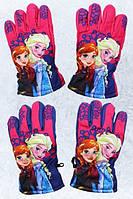 Перчатки болоневые для девочек оптом, Disney, 3-8 лет., Арт. FR-A-GLOVES-97