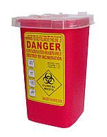Контейнер д/утилизации игл и других мед.отходов 2 л, п/п,