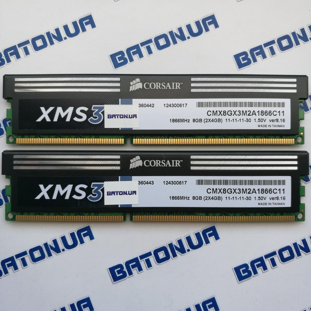 Игровая оперативная память Corsair DDR3 8Gb KIT of 2 1866MHz PC3 14900U CL11 (CMX8GX3M2A1866C11)