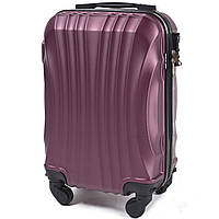 Микро пластиковый чемодан Wings 159 на 4 колесах бордовый