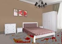 Кровать белая с мягким изголовьем Севилья