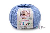 Alize Baby Wool, голубой №40