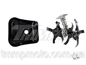 Насадка культиватор(фреза) для мотокосы  (4T-вал ,26mm- штанга)  тип 2, фото 3