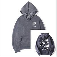 Толстовка на флисе с принтом Anti Social Social Club