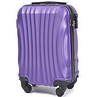 Микро пластиковый чемодан Wings 159 на 4 колесах фиолетовый