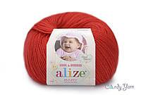 Alize Baby Wool, Красный №56