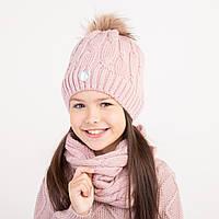 Теплый комплект на зиму для девочки - Арт 2382
