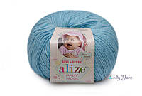 Alize Baby Wool, морская вода №128