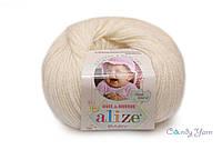 Alize Baby Wool, молочный №62