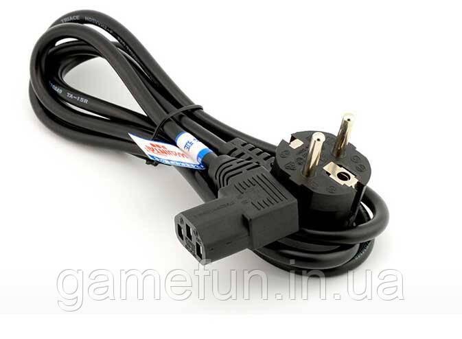 Кабель питания, сетевой шнур для блока питания Xbox 360 Slim, Xbox 360-E, Xbox One (Оригинал)