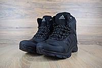Зимние мужские кроссовки Adidas Climaproof высокие, черные (ТОП реплика), фото 1