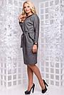 Женское деловое платье серое, размеры от 44 до 52, ангора с люрексом, повседневное, классическое, фото 9