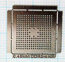 Трафарет BGA DDR3-4KF, шар 0,45 мм