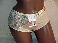 Трусы женские  с кружевом, хлопок 48-56р., фото 1