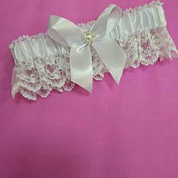 Свадебная подвязка нежная айвори