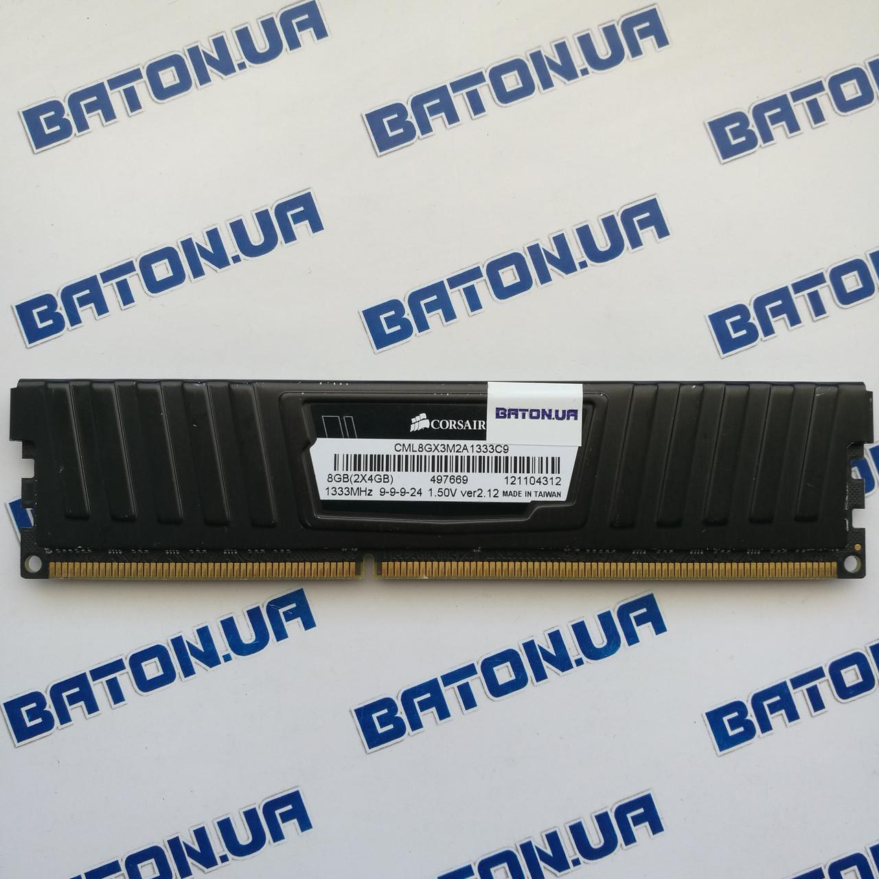 Игровая оперативная память Corsair Vengeance DDR3 4Gb 1333MHz PC3-10600 CL9 (CML8GX3M2A1333C9)