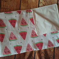 Непромокаемая пеленка с муслином размер 80*55 см