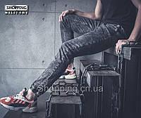 Штаны серые карго джоггеры Jogger Cargo Indigo Jeans Джинсовые