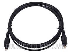 05-04-052. Шнур оптический (toslink plug - toslink plug), диам.-4мм, чёрный, 5м