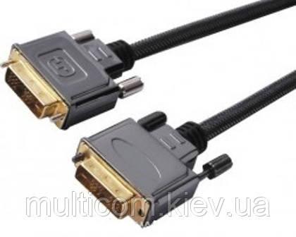 05-06-011. Шнур DVI (штекер - штекер), gold pin, с фильтрами, в блистере, 1,5м
