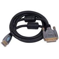 05-06-113. Шнур HDMI - DVI (штекер - штекер), Hi-Fi, gold pin, с фильтрами, в блистере, 1,5м