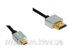05-07-411. Шнур HDMI - micro HDMI (штекер-штекер), version 1.4, Ultra Slim, в блистере, 2м