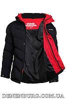 Куртка зимняя мужская COLUMBIA 8917 чёрная, фото 1