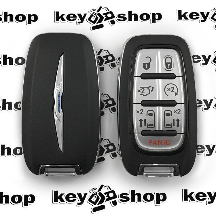 Оригинальный смарт ключ для Chrysler (Крайслер) 6 + 1 кнопки, чип ID4A, HITAG AES, 433 MHz