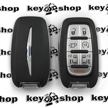 Оригинальный смарт ключ для Chrysler (Крайслер) 6 + 1 кнопки, чип ID4A, HITAG AES, 433 MHz, фото 2