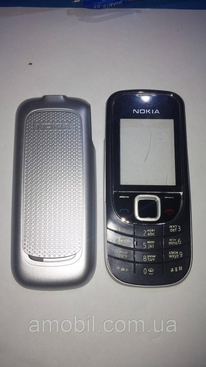 Корпус Nokia 2323 с клавиатурой чёрно-серебристый