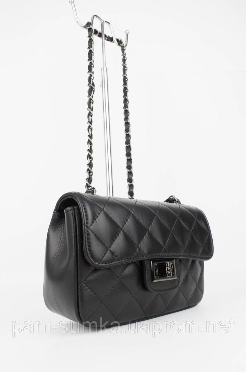 89a3d045b6d6 Кожаная сумочка в стиле Chanel 323907-1 черная, Италия: продажа ...