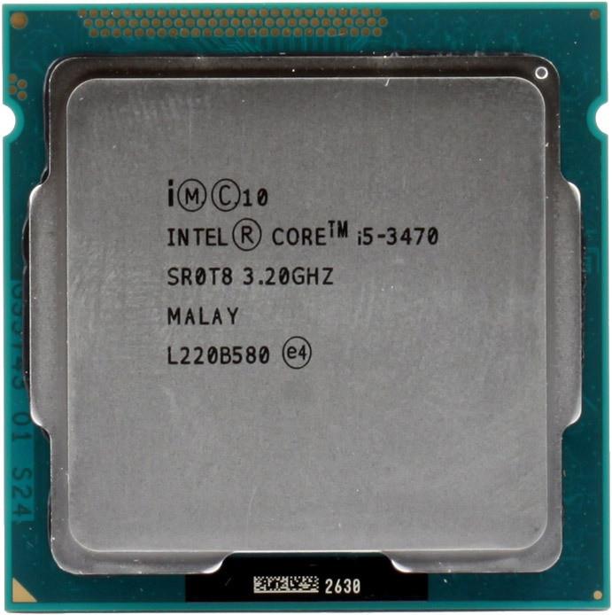 Процессор Intel Core i5 3470, 4 ядра x 3.2GHz, socket 1155