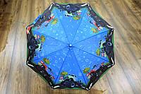Зонт трость для мальчиков с рисунком машинки (13831), фото 1