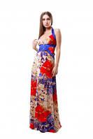 Длинное платье с декольте