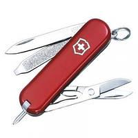 Нож Складной Мультитул Викторинокс Victorinox SIGNATURE (58мм, 7 функций), красный 0.6225
