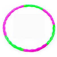 Обруч разборный пластиковый Hula Hoop (7 секций, диаметр 105 см)