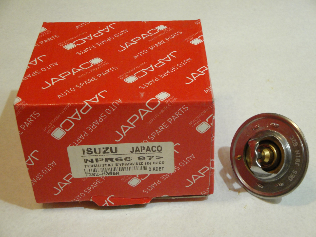 Термостат двигателя БОГДАН A091/A092 (ISUZU 4HF1/4HG1/4HG1T/4HE1T 82C) КОРОТКИЙ (8973007872/8970286902) JAPA