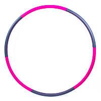 Обруч разборный Hula Hoop WAVE HU-LA (неопрен, 6 секций, d-96 см)
