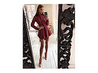 Женское платье-рубашка на байке мод.3100