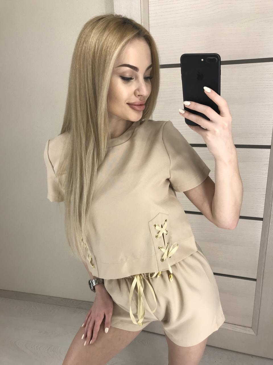 Костюм шорты и топ женский