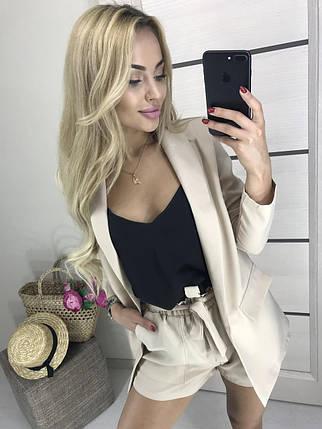 Женский деловой костюм с шортами, фото 2