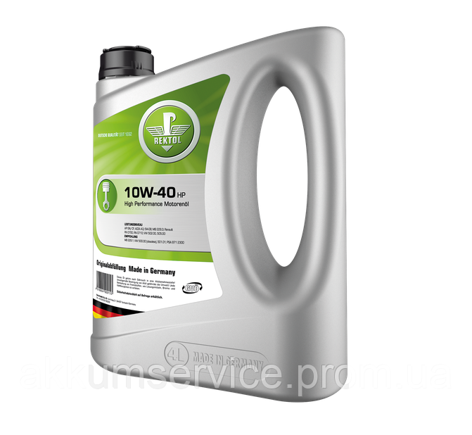 Моторное масло REKTOL 10W-40 HP (4 L)