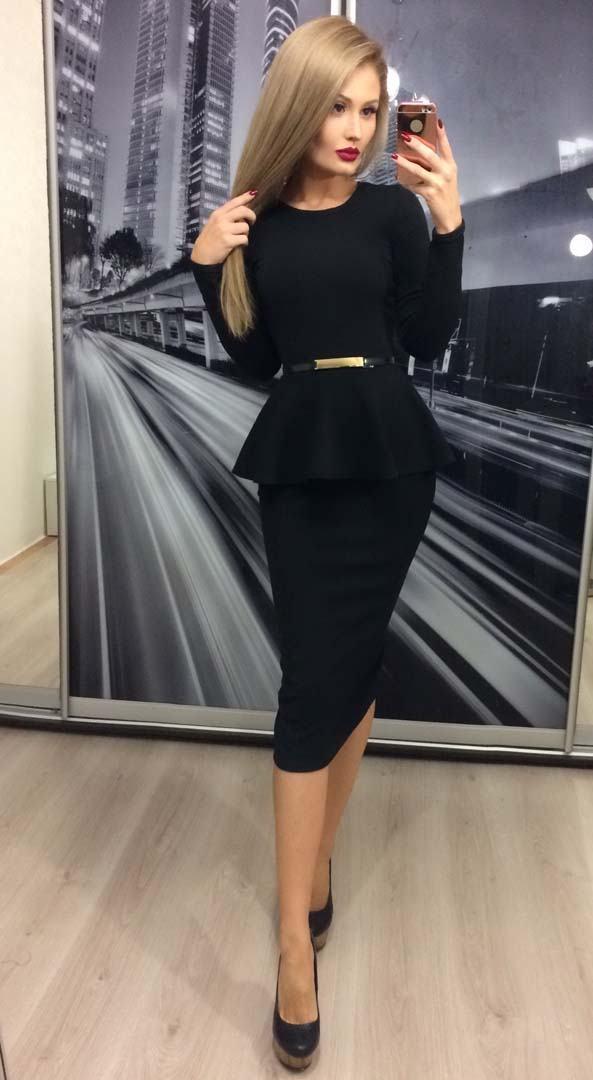 Женский костюм с баской