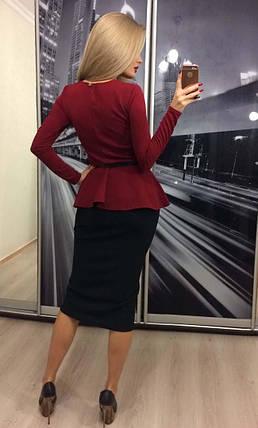 Классический костюм женский с юбкой, фото 2