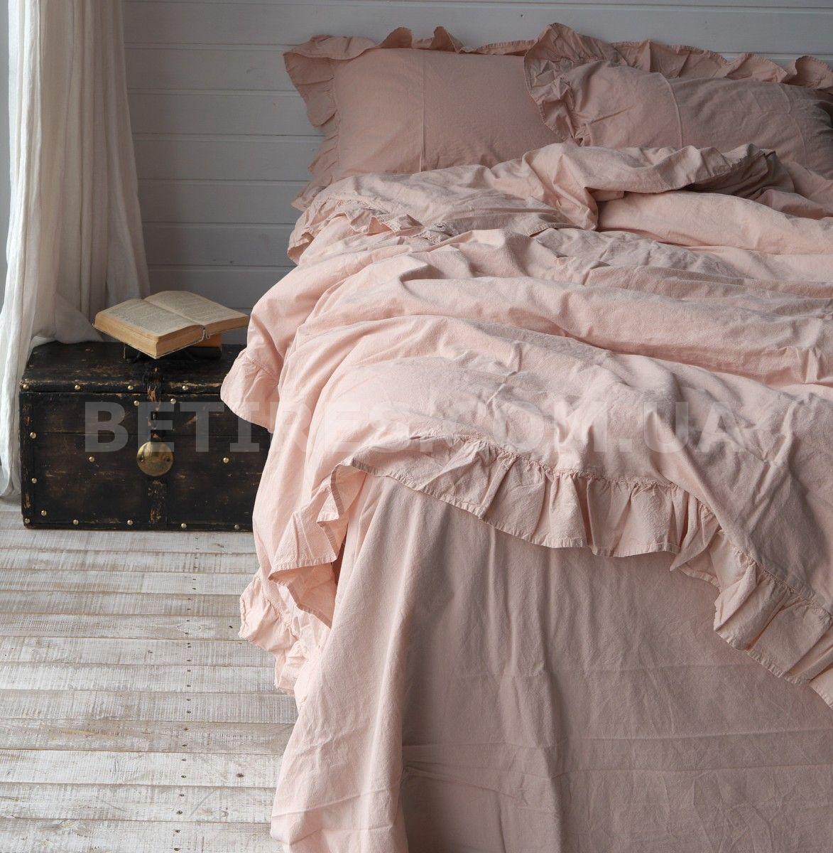 Комплект постельного белья 160x220 LIMASSO CAMELLO ROSES EXCLUSIVE персиковый