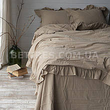 Комплект постельного белья 160x220 LIMASSO OXFORD TAN EXCLUSIVE бежевый