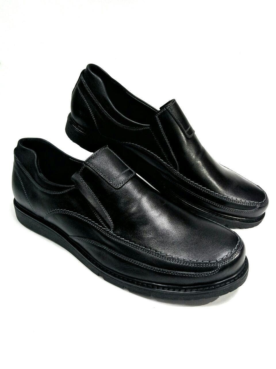 7908fe52d85a Черные мужские туфли из натуральной кожи больших размеров Berg 449N