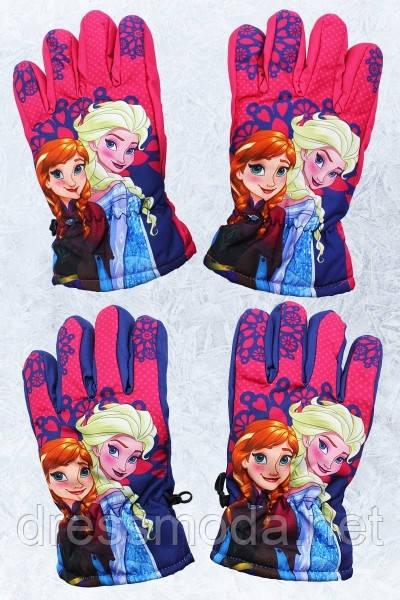 Перчатки лыжные для девочек Frozen 3-8 лет