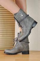 Ботинки кожанные зимние серые. Турция Украина