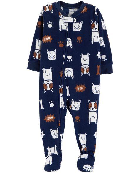 Пижама-человечек флисовый на мальчика 2-3-4-5 лет  Собачка Carter's (США)